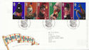 2001-09-04 Punch and Judy Stamps Blackpool FDC (60023)