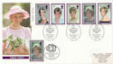 1998-02-03 Diana Stamps Kensington Doubled FDC (60043)