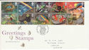 1991-02-05 Greetings Stamps Greetwell FDC (60577)