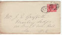 1902-10 KEVII 1d Red Used on Cover 1902 (60732)