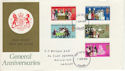 1970-04-01 Anniversaries Stamps Cardiff FDC (60748)