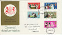 1970-04-01 Anniversaries Stamps Cardiff FDC (60749)