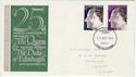 1972-11-20 Silver Wedding Stamps Cardiff FDC (60761)
