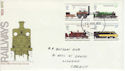 1975-08-13 Railways Stamps Cardiff FDC (60764)
