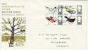 1966-08-08 British Birds Stamps Cardiff FDC (60829)