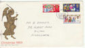 1969-11-26 Christmas Stamps Harrogate FDC (60850)