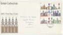 1969-05-28 Cathedrals Stamps Cardiff FDC (61235)