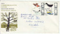 1966-08-08 Birds Stamps Exeter FDC (61245)
