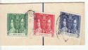 Hong Kong 1937 Coronation Stamps used on Piece (61268)