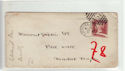 Queen Victoria 1d Red Used on Cover (61353)