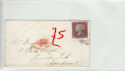 Queen Victoria 1d Red Used on Cover (61354)