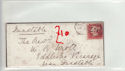 Queen Victoria 1d Red Used on Cover (61357)