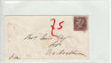 Queen Victoria 1d Red Used on Cover (61360)