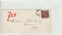 Queen Victoria 1d Red Used on Cover (61366)