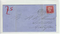 Queen Victoria 1d Red Used on Cover (61370)