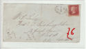 Queen Victoria 1d Red Used on Cover (61371)