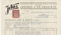 Czechoslovakia 1938 Revenue Stamp on Invoice (61384)