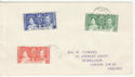 Ascension 1937 Coronation Stamps on Cover (61397)