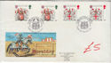 1984-01-17 Heraldry Gutter Stamps London WC1 FDC (61429)