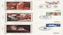 1981-11-18 Christmas Stamps x5 Silk FDC (61476)