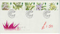 1993-03-16 Orchids Stamps Glasgow FDC (61497)
