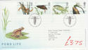 2001-07-10 Pond Life Stamps T/House FDC (61580)