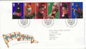2001-09-04 Punch and Judy Stamps T/House FDC (61595)