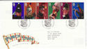 2001-09-04 Punch and Judy Blackpool FDC (61596)
