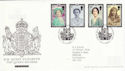 2002-04-25 Queen Mother Stamps London SW1 FDC (61605)