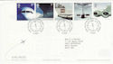 2002-05-02 Airliners Stamps Heathrow Airport FDC (61621)