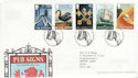 2003-08-12 Pub Signs Stamps T/House FDC (61650)