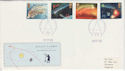 1986-02-18 Halleys Comet Stamps Stoke FDC (61763)