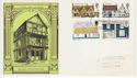 1970-02-11 British Architecture Stamps Gloucester FDC (62093)