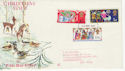1969-11-26 Christmas Stamps Bournemouth FDC (62133)