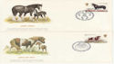 1978-07-05 Horse Stamps x4 SHS FDC (62222)