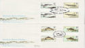 1983-01-26 River Fish Gutter Stamps x2 SHS FDC (62302)