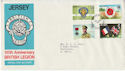 1971-06-15 Jersey British Legion Stamps FDC (62394)