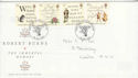 1996-01-25 Robert Burns Stamps London FDC (62503)