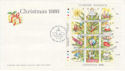 1989-11-17 Guernsey Christmas M/S Stamps FDC (62629)