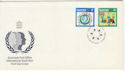 1985-05-14 Guernsey Youth Year Stamps FDC (62651)