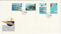 1988-09-06 Guernsey Power Boats Stamps FDC (62729)
