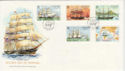 1988-02-09 Guernsey Ships Stamps FDC (62743)