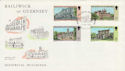 1976-10-14 Guernsey Christmas Buildings Stamps FDC (62749)