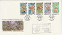 1989-11-17 Guernsey Wildlife Stamps + Expo FDC (62773)