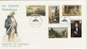 1980-11-15 Guernsey Le Lievre Paintings Stamps FDC (62810)