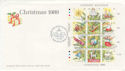 1989-11-17 Guernsey Chrictmas Stamps M/S FDC (62855)