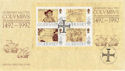 1992-02-06 Guernsey Europa Columbus Stamps M/S FDC (62870)
