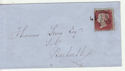 Queen Victoria 1d Red Used on Cover (62881)