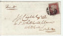Queen Victoria 1d Red Used on Cover (62886)