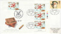 1997-10-27 Christmas Stamps T/L London WC2 FDC (63033)